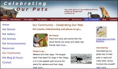 Coming soon - Celebrating Our Pets - Our Pet Community